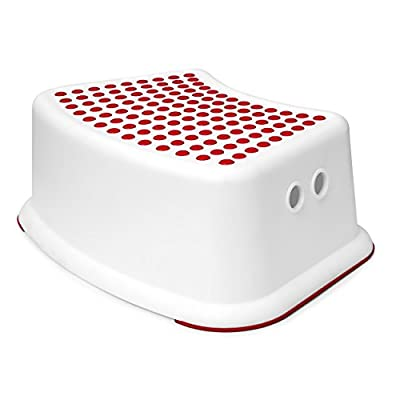 Girls Red Step Stool - Great For Potty Training, Bathroom, Bedroom, Toilet, Toy Room, Kitchen, and Living Room. Perfect For Your House