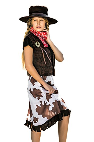 Adult Women Сowgirl Costume Hat Texas Cosplay Role Play Wild West Rodeo Dress Up