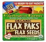 Carrington Farms Flax Paks Organic Milled Flax Seeds -- 12 Packets