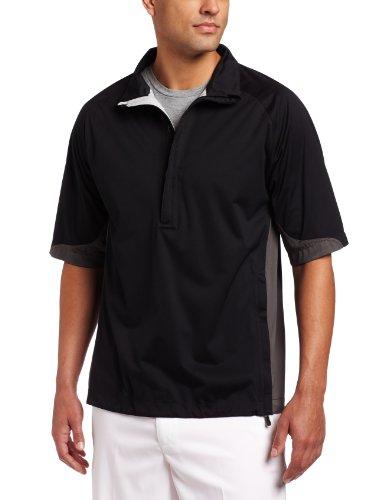 (Nike Golf Men's Storm-Fit Short Sleeve Jacket (Black/Midnight Fog/Black, X-Large))