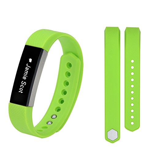 Zbella Soft Silicone Adjustable Replacement Strap Band Compatible with FitBit Alta 17 Colors