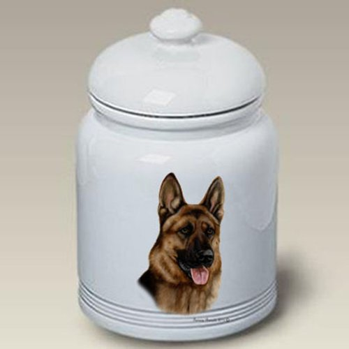 German Shepherd: Ceramic Treat Jar 10