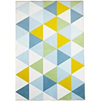 SHACOS Area Rug Carpet Playmat Nursery Rugs for Children Geometric Triangle Floor Rugs for Hallway Living Room Bedroom,Anti-Skid,28 by 4 , Regular Triangle