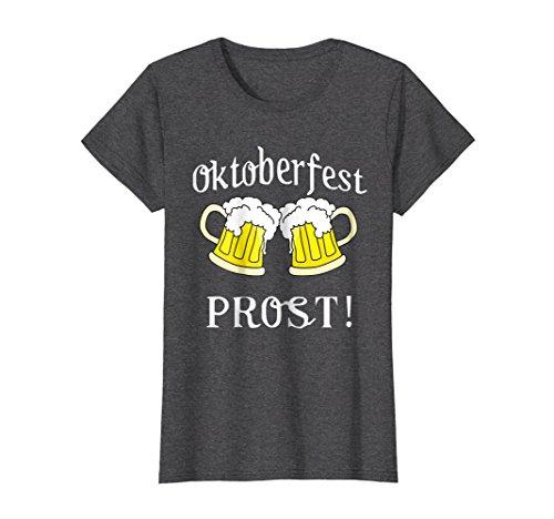 Womens Oktoberfest Drinking Shirt - Funny German Beer Tshirt 2018 XL Dark Heather
