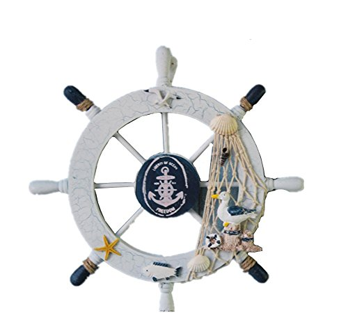 Ximkee Nautical Wooden Steering Fishing