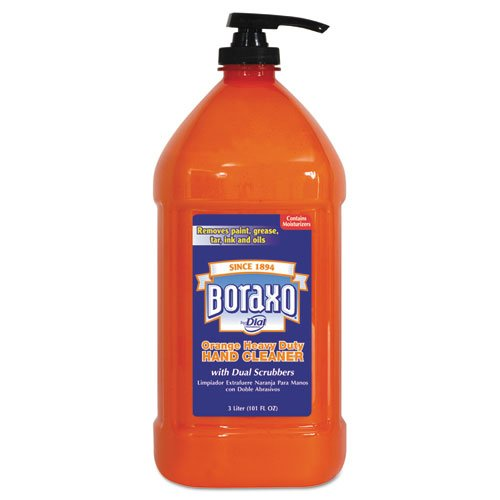 Boraxo Orange Heavy Duty Hand Cleaner with Scrubbers, 3 Liter Pump Bottle - Includes four bottles. ()