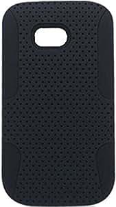 PiGGyB Case for Nokia Lumia 822 Black Perforated Hard Black Soft Rubber Skin