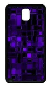 Samsung Galaxy Note 3 CasePurple Glass Cubes TPU Custom Samsung Galaxy Note 3 / Note III/ N9000 - Black