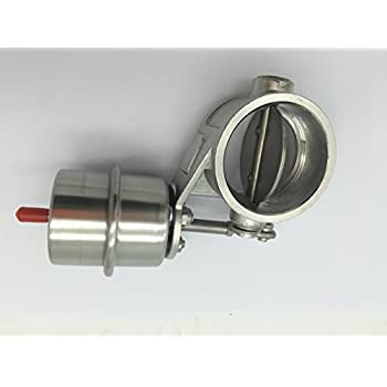 Weldable Stainless Steel Exhaust Control Valve Set Vacuum Actuator 2