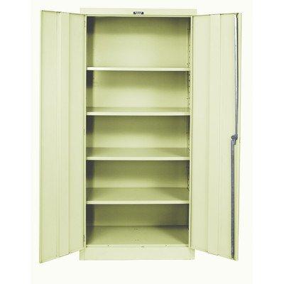 Hallowell Industrial Storage Cabinet – 48″Wx18″Dx78″H – Unassembled – Tan – Tan