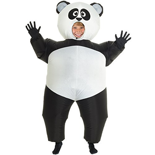 Panda Costume A (MorphCostumes Giant Panda Kids Inflatable Blow Up Costume - One)