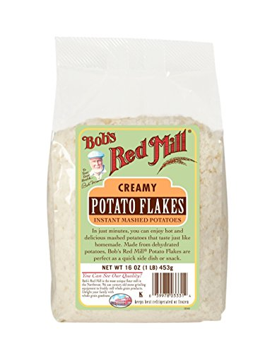 Bob's Red Mill Instant Mashed Potatoes Creamy Potato Flakes, 16-ounce