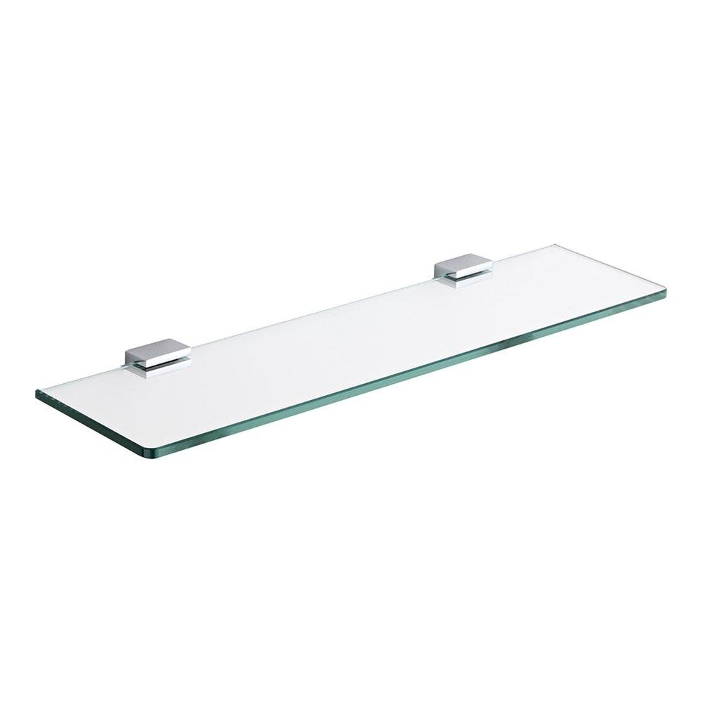 Superb Milano Arvo Modern Wall Mounted Bathroom Glass Shelf With Square Chrome Brackets 500Mm Length Download Free Architecture Designs Scobabritishbridgeorg