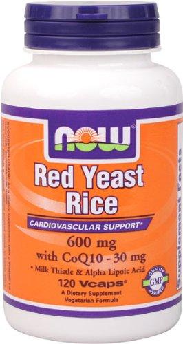 NOW Foods levure de riz rouge et CoQ10, 120 Vcaps