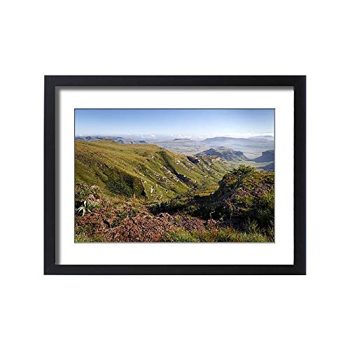 Media Storehouse Framed 24x18 Print of A View Over The Drakensberg Mountain Range from an Elevated Point (18246851)