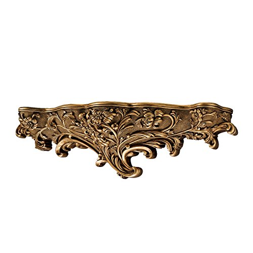Review Design Toscano Brussels Floral Art Nouveau Sculptural Wall Shelf By Design Toscano by Design Toscano