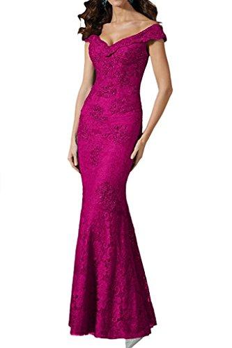 Marie Etuikleider Ballkleider La Bodenlang Damen Braut Pink Abendkleider Weiss Brautmutterkleider Festlichkleider 4qn1Fnwp