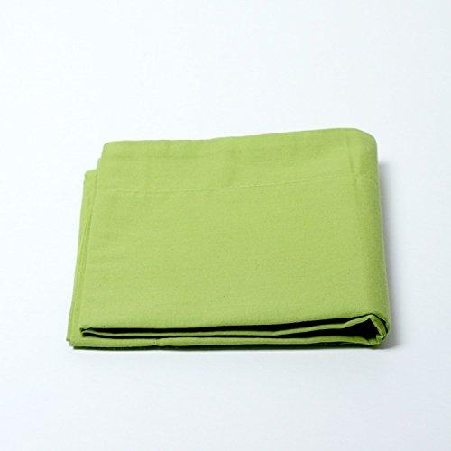 Drap housse 57 fils/cm² 90 x 190 cm Vert Anis pour lit 1 place
