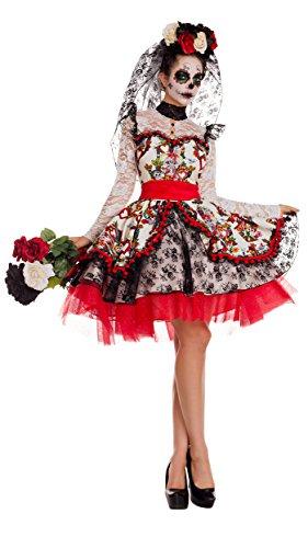 Day Costumes The Headpiece Adult Of Dead (La Novia Adult Costume -)