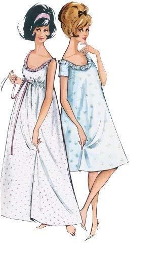 finest selection 893a0 6bcae Burda B7109 - Cartamodello per Realizzare Camicia da Notte ...