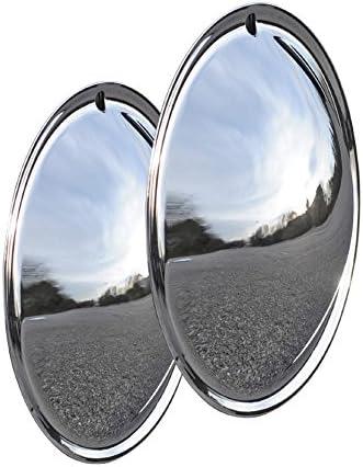 Universell Passendes Radzierblendenset 2 Stück 13 Zoll Moon Caps Für Pkw Oldtimer Aus Verchromten Metall Auto