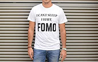 FOMO White Round Neck T-Shirt For Men