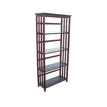 Mission-Style Storage Shelf w 5 Tiers - Mission Style Corner