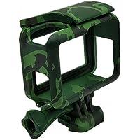 Armação Moldura Suporte Camuflado The Frame Para Câmera GoPro Hero 5 Black Hero 6 Black Hero 7 Black Cor Verde Escuro