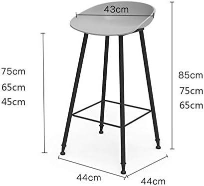 Style industriel Pub Tabourets de bar hautes Mobilier de bureau Salon confortable Tabouret de bar Loisirs Chaise à dîner Vanity Tabouret (45/65 / 75cm),65cm