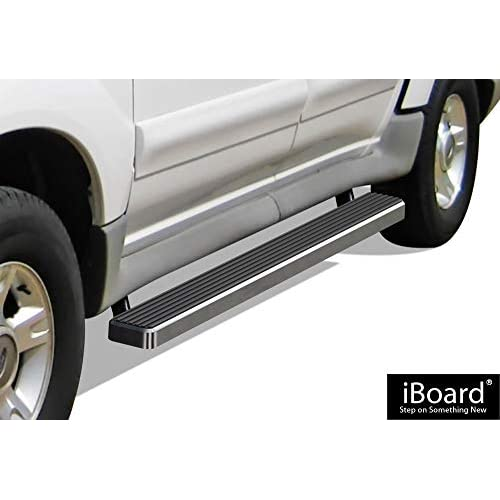 APS iBoard Running Boards (Nerf Bars | Side Steps | Step Bars) for 2001-2006 Ford Explorer Sport Trac Crew Cab Pickup 4-Door | (Silver 4 inches) for cheap