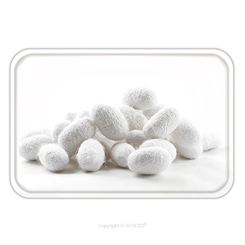 Flannel Microfiber Non-slip Rubber Backing Soft Absorbent Doormat Mat Rug Carpet Silk Cocoons_32956392 for (Kilim Silk Rug)