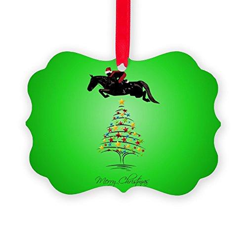 CafePress Grand_Prix_Jumper_Christmas_Sq Ornament Christmas Ornament, Decorative Tree Ornament