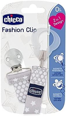 Chicco Clip Fashion rosa Cadena portachupetes