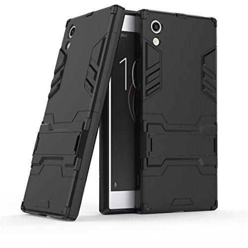 Slim Armor TPU/PC Cover Case for Sony Xperia X (Black) - 9