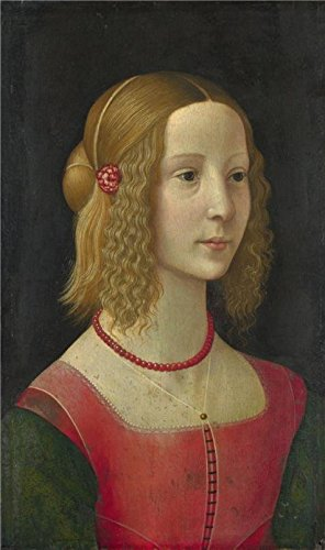 Perfect Effect Canvas ,the Replica Art DecorativePrints On Canvas Of Oil Painting 'Workshop Of Domenico Ghirlandaio-Portrait Of A Girl,about 1490', 20x34 Inch / 51x86 Cm Is Best For Living Room Gallery Art And Home Decor And Gifts