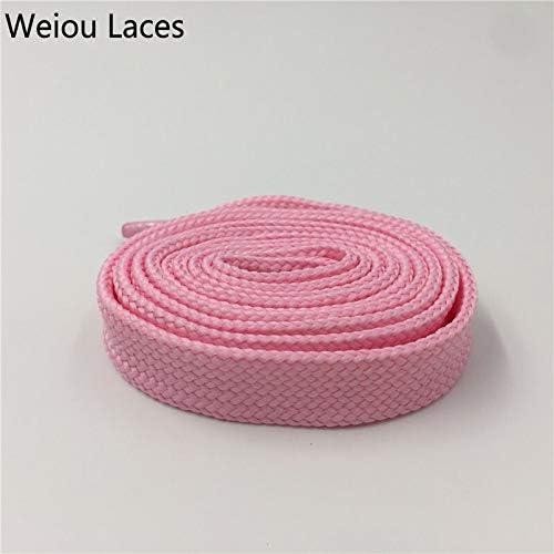 JWJY ヘビーデューティブーツレーススニーカーカラフルなアスレチック・デザイナーフラットワイドシューズストリングス1.8センチメートル/ 0.7「」太っ靴ひものためにレディー・ウーマン (Color : 138 Pink, Length : 180 cm)