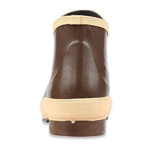 Servus 6 botas de trabajo de los hombres de neopreno de acero con suela Neo-Grip, cobre y bronceado (22103)