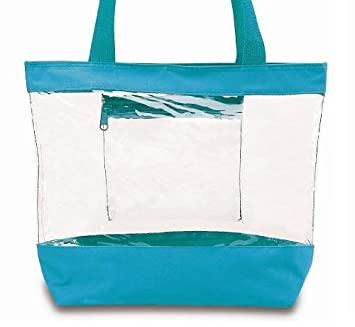 Image Unavailable. Image not available for. Color  Clear Tote Bag With  Zipper ... 5e4e3765b81f8