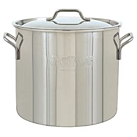 Bayou Classic 1420 Brew Kettle, 20 Quart, Stainless Steel