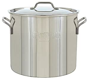 Bayou Classic 1440  Bayou Stainless Brew Kettle, 40 quart, Stainless Steel