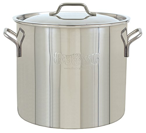 Bayou Classic Brew Kettle, 20 quart, Stainless (Gumbo Pot)