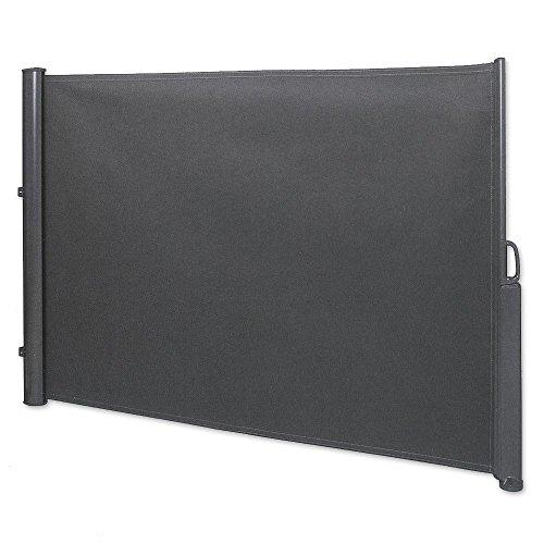 Seitenmarkise 1,8 x 3,5 m anthrazit Sichtschutz Seitenwandmarkise Windschutz