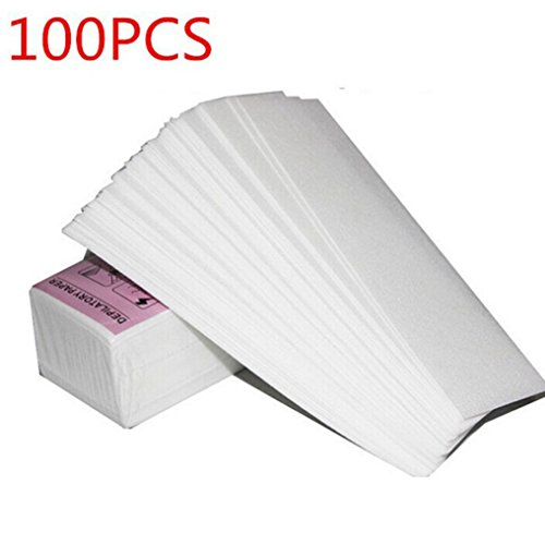 Hair Removal Wax Paper Strips for Facial & Body Hair Removal Depilatory Strip Nonwoven 100pcs