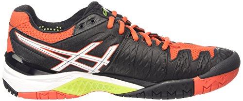 Asics Gel-Resolution 6, Men's Tennis Shoes Black (Black/White/Orange 9001)