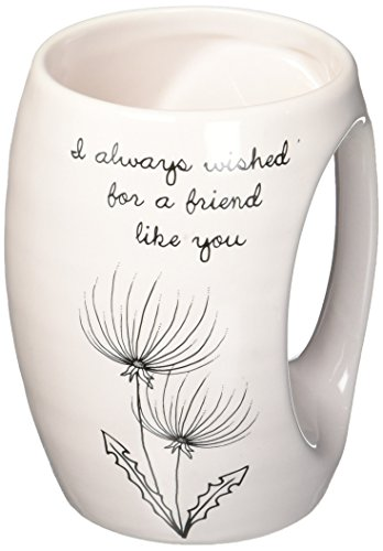 Pavilion Gift Company 77102 Dandelion Wishes I Always Wished for a Friend Like You Ceramic Hand Warmer Mug, Pink (Best Wishes For Friends)