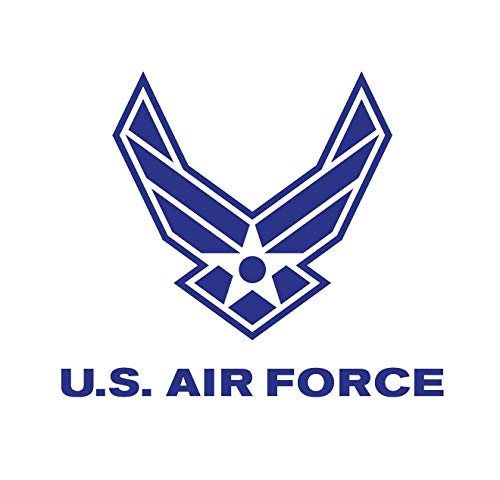 CRDesign USAF US Air Force Wings Decal Sticker for Car, Truck, Notebook, SUV Bumper Window Vinyl -