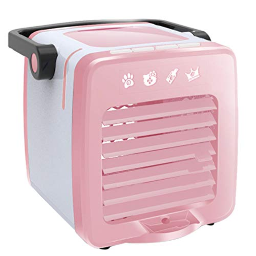FeiFei66 Portable Mini USB Charging Portable Multifunction Air Conditioning Fan Home Refrigerator Cooler (Pink)