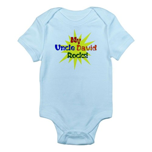 CafePress My Uncle David Rocks Infant Bodysuit - Cute Infant Bodysuit Baby Romper