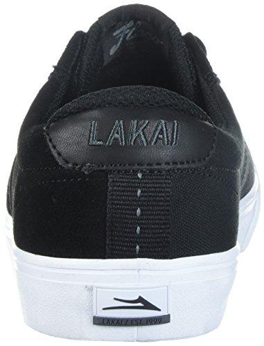 Lakai Heren Flaco High Skate Schoen Zwart / Charcoal Suede