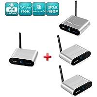 Measy AV550-3(1X3) 5.8GHZ AV Wireless Audio Video SD TV Sender Transmitter & Receiver support transmission distance 500m/1650 feet with IR signal return back function